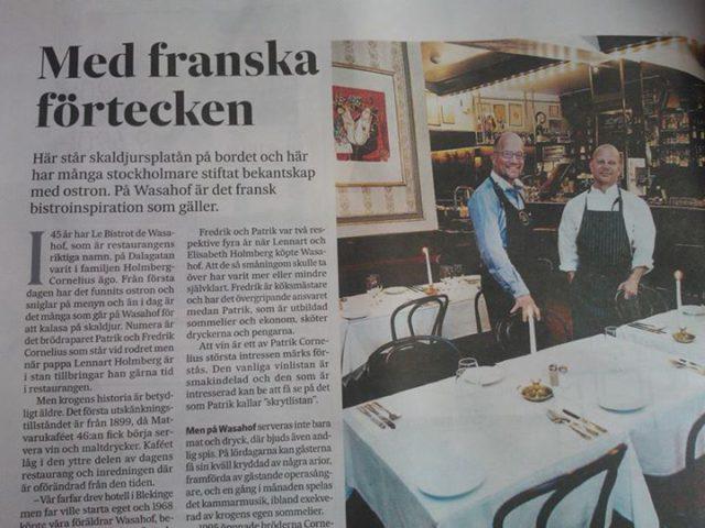 Wasahof i Svenska Dagbladet